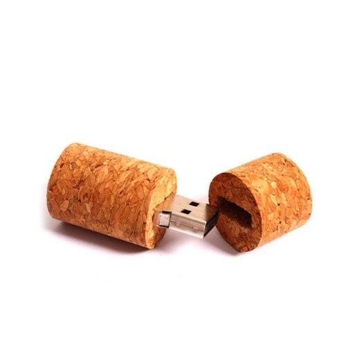 Genuine Wooden Cork USB Flash Drive Gift Pen Drive 512GB Flash USB 3.0 Memory Disk Stick Thumbdrive Pendrive 64GB Pendrives Gift