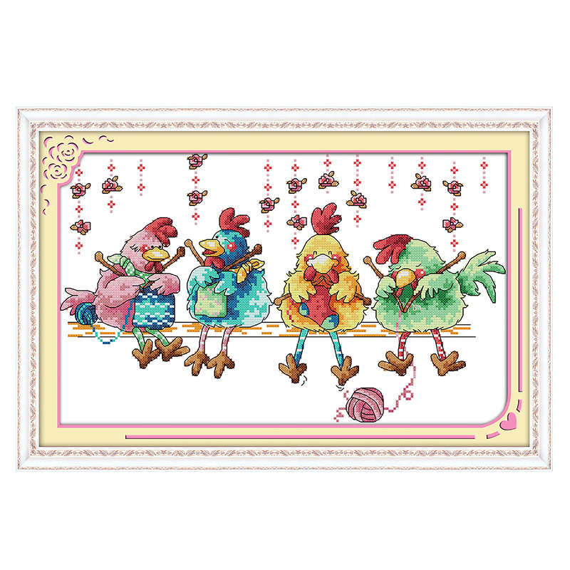 ᓂJoy Sunday crossstitch kits el pollo tejer un suéter DMC14CT11CT ...