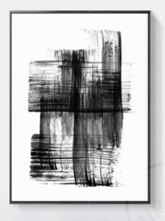 Modern Abstract Black Canvas Painting