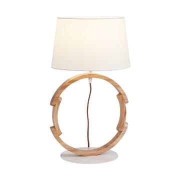 Japanese LED E27 Solid Wood Art Table Lamps Bedroom Bedside Table Lights Lighting Living Room Desktop Lights Decoration Fixtures