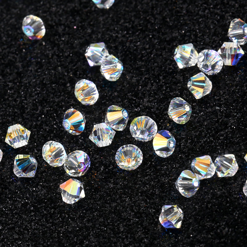 48 pc DENIM BLUE AB2X 3mm Swarovski Crystal Bicones #5328 XILION