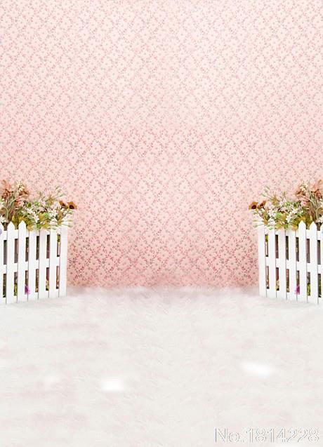 Newborn Baby Girl Wallpaper 3x5ft Pink Floral Fabric Damask Wall Mat Girl Birthday