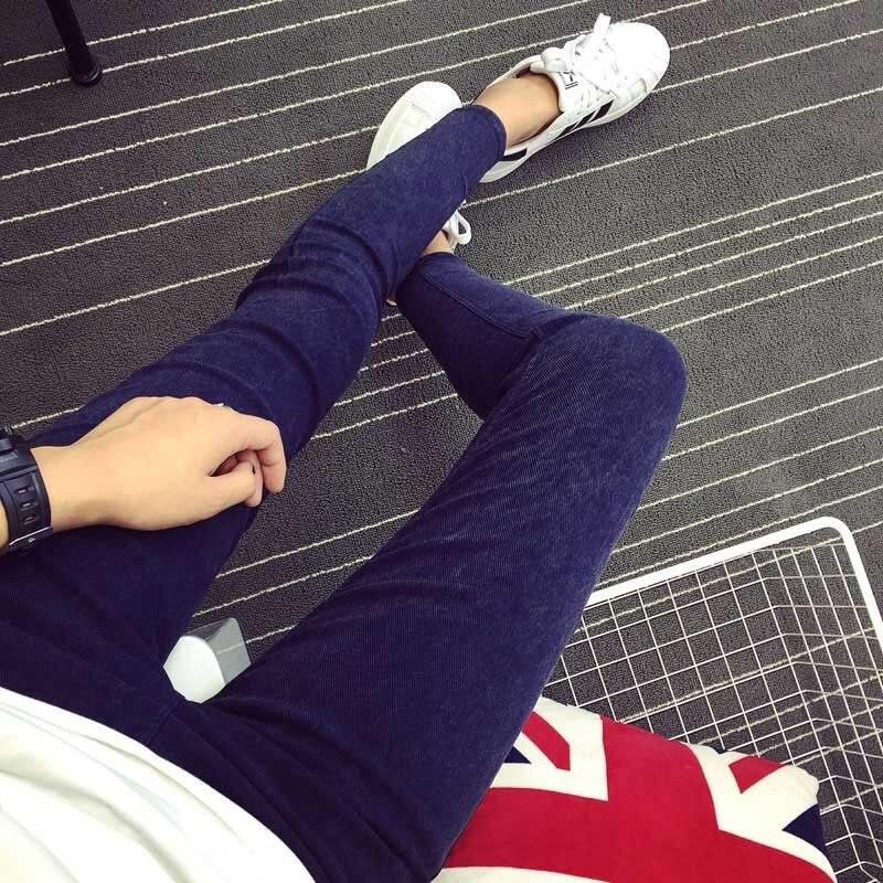 HTB1QHjNXjzuK1Rjy0Fpq6yEpFXa3 New 2018 Washed Women Imitation Jeans Mujer Stretch Cotton Denim Pants Trousers Boyfriend Big Size Skinny Jeans Pencil Pants