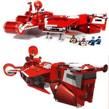все цены на In Stock05070 Star Republic Cruiser Set Children Educational Building Blocks Bricks Wars Toys Compatible with 7665 Boys ToysGift онлайн