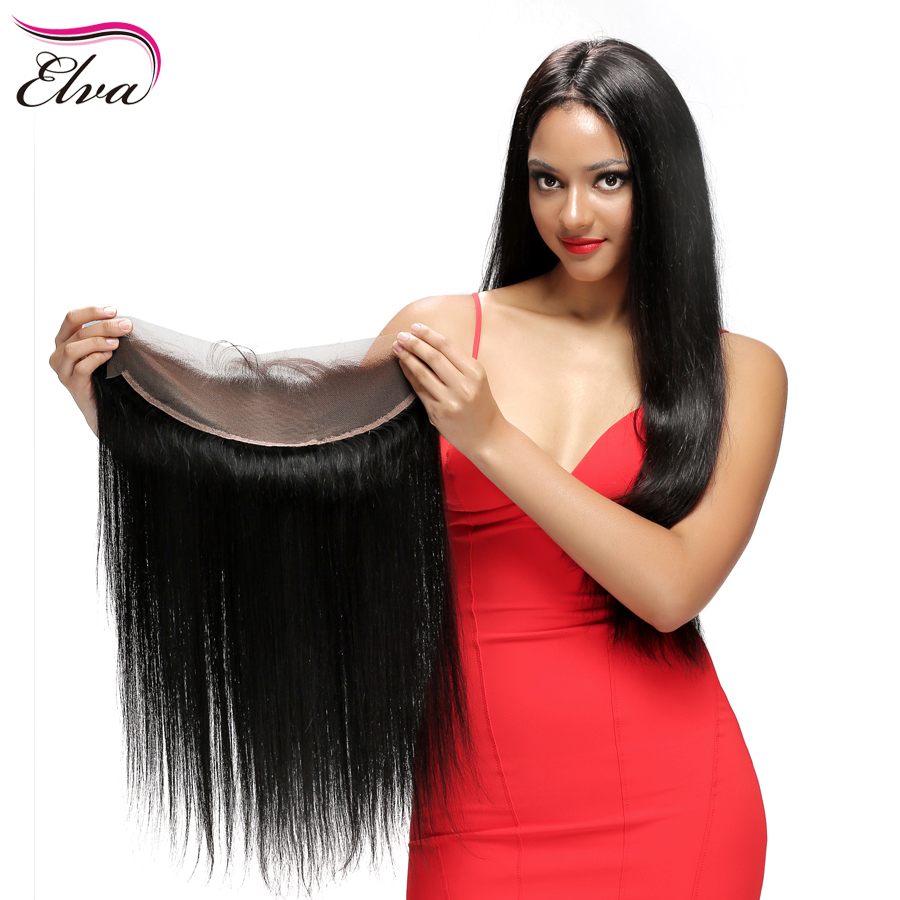 Brazilian Lace Frontal Closure 13×2 Straight Ear To Ear Lace Frontals With Baby Hair Virgin Human Hair Full Frontal Lace Closure
