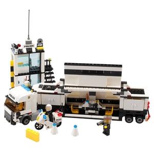 Image 4 - 511pcs Police Station Car Truck Building Blocks Bricks Educational Compatible  City Policeman Toys For Children Kids