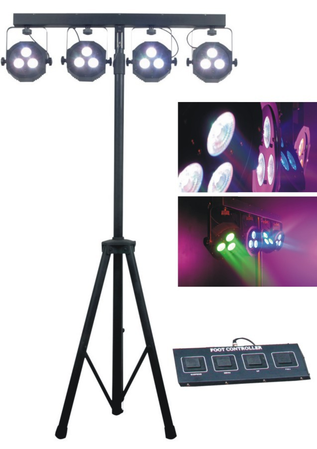 Led Stage Light 4pcs 3x15w 5in1 Rgbwa Professional Flat Par Kit Dj Laser Projector Iluminacion Signal Disco Lighting