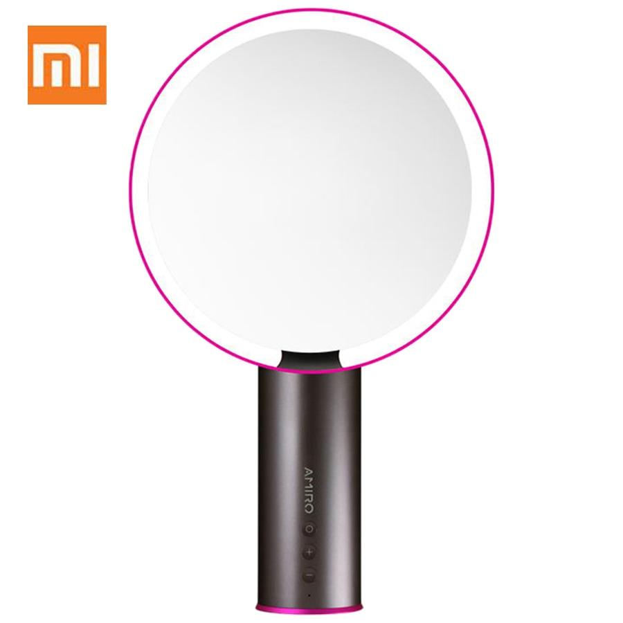 Xiaomi AMIRO LED Lighted Smart Sensor Makeup Mirror From Xiaomi Youpin Cosmetics Vanity Makeup Mirror Espejo De Maquillaje