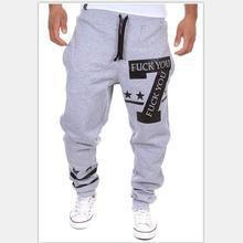 Hombres Encuadre de cuerpo entero pantalones de Ocio Joven ropa de calle Personalizada letras impresas pantalones de Chándal basculador pantalones largos