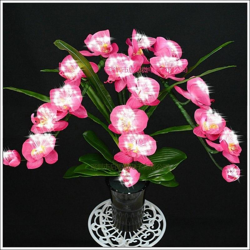 Mode orchidee kunstbloemen Led lamp Kunstmatige Vlinder Orchidee ...