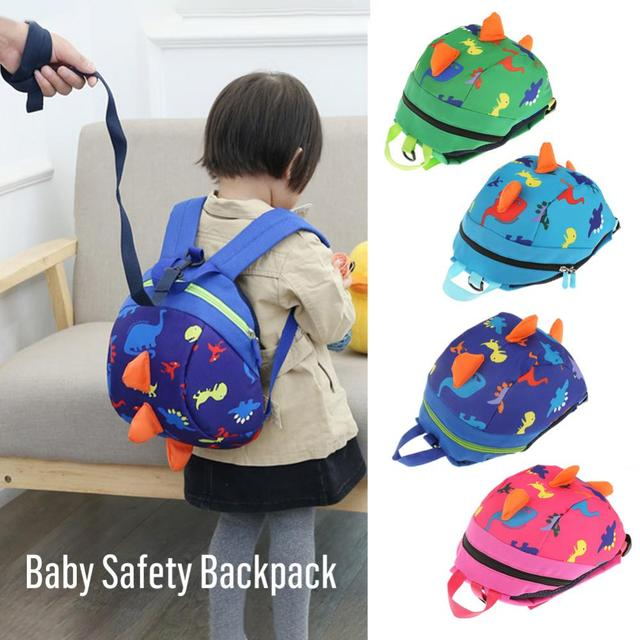 Cute Dinosaur Baby Safety Harness Backpack Toddler Anti-lost Bag Children extremely durable sturdy and comfortable Schoolbag