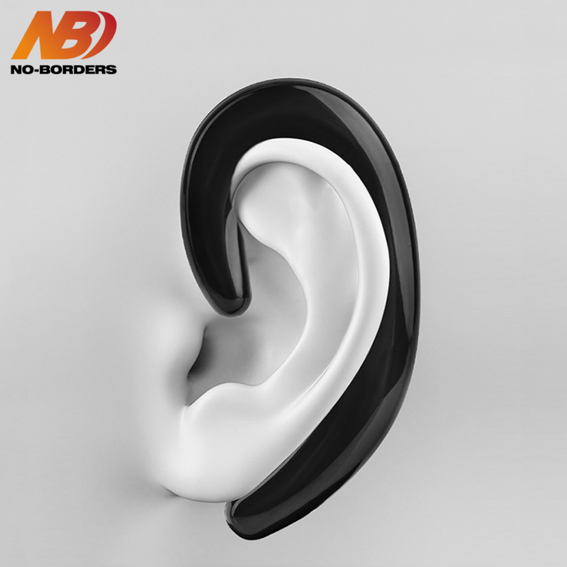 NO-BORDERS K8 Bone Conduction Earphone Sport Wireless Bluetooth Headphone Handsfree Car Driver Cordless Earbuds Earhook With Mic