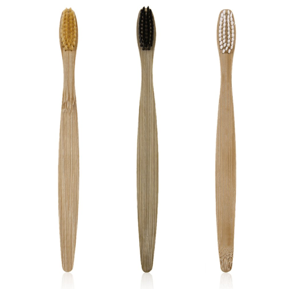 Low-carbon Eco-friendly 3pcs/set Environment-friendly Wood Toothbrush Bamboo Toothbrush Soft Bamboo Fibre Wooden Handle