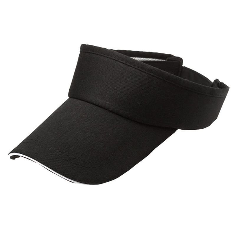 Hot Sale Men Women Summer Solid Visor Sun Plain Hat Casual Ajustable Empty Top Sunscreen Cap Cool casquette Lowest Price @48 gun