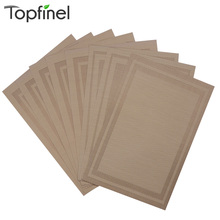 Top Finel Set of 8 PVC Vinyl Placemats for Dining Table Runner Linen Place Mat in Kitchen Accessories Cup Wine Mat Coaster Pad