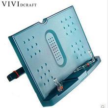 Vividcraft 1pc Portable Adjustable Folding Tablet Book Holder For Reading Decorative Bookends Office Desk Holder Tilt Bookstand