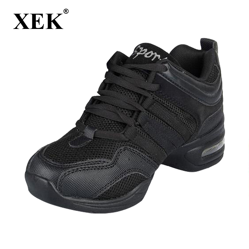 New 2017 Dance Shoes For Girls Sports Soft Outsole Breath women Practice Shoes Modern Jazz Dance Shoes Sneakers Plus size 41 42 цена
