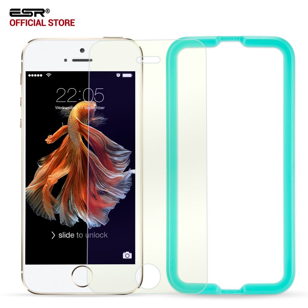 screen-protector-for-iphone-5sesr-033mm-triple-strength-blue-ray-tempered-glass-screen-protector-wit