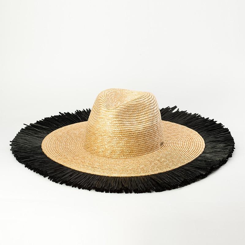 01903 HH7158 2019 new summer Handmade STRAW fashion lady fedoras cap women leisure holiday beach jazz