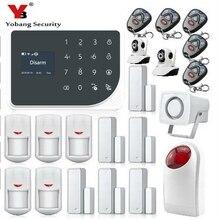 YoBang Security WIFI GSM Home Security Alarm Security Alarm System Wireless Alarm App Control SMS Alarm Panel Video IP Camera.