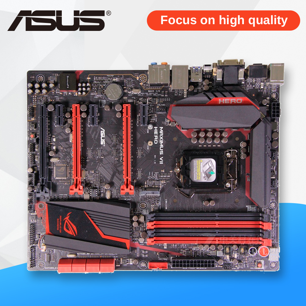Asus MAXIMUS VII HERO Desktop Motherboard M7H Z97 Socket LGA 1150 i7 i5 i3 DDR3 32G SATA3 Micro-ATX