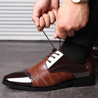 Patent Leather Dress Shoes - Lace Up Leather Lined 4