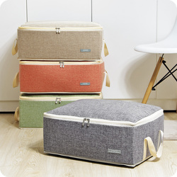Quilt Storage Bags Cotton Luggage Bags Home Storage Organiser Washable Wardrobe Clothes Storing Bags Clothes Quilt Duvet Bag