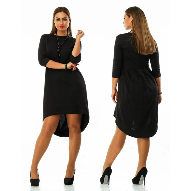 Plus size women clothing 6xl winter dress O-neck Dress casual women loose dress
