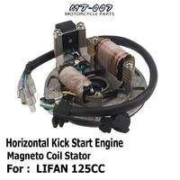 LIFAN LF125cc Horizontal Kick Start Engine Magneto Coil Stator Kit for Pit Dirt Bike Kick Start lifan engine