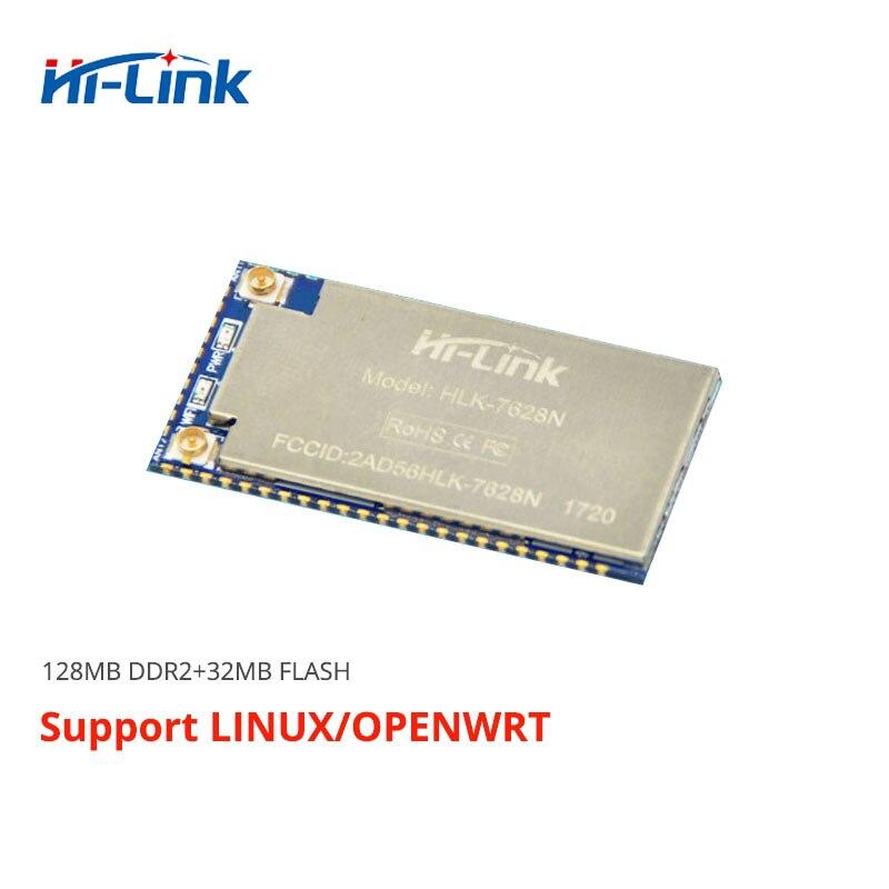Free Shipping Serial UART Embedded Wifi Wireless Mt7628 Openwrt Module RAM128m Flash 32M Ethernet Router Module HLK-7628N 300Mbp