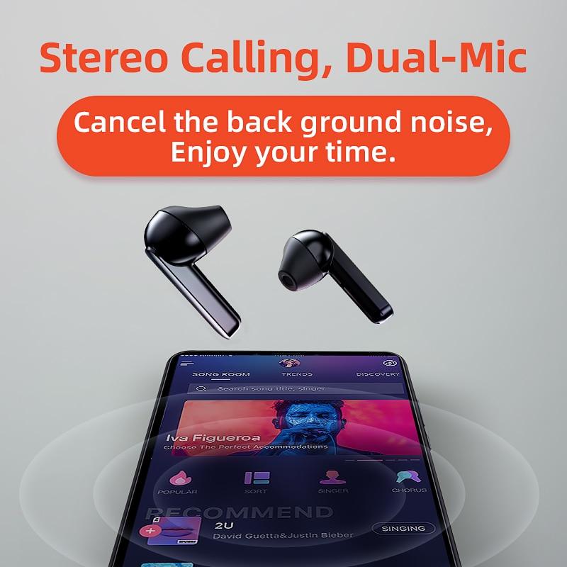 QCY T3 TWS empreinte digitale tactile casque sans fil Bluetooth V5.0 3D stéréo double-micro écouteurs - 6