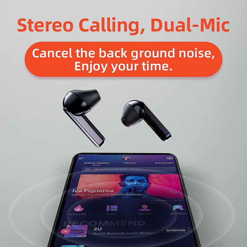 QCY T3 TWS odcisk palca dotykowe słuchawki bezprzewodowe Bluetooth V5.0 3D Stereo Dual-Mic słuchawki