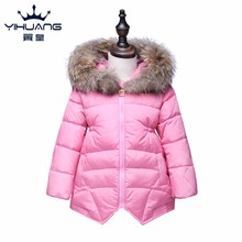 winter jacket for girl high quality feather cotton fashion warm coat for girl outerwear Children snowsuit toddler winter coat