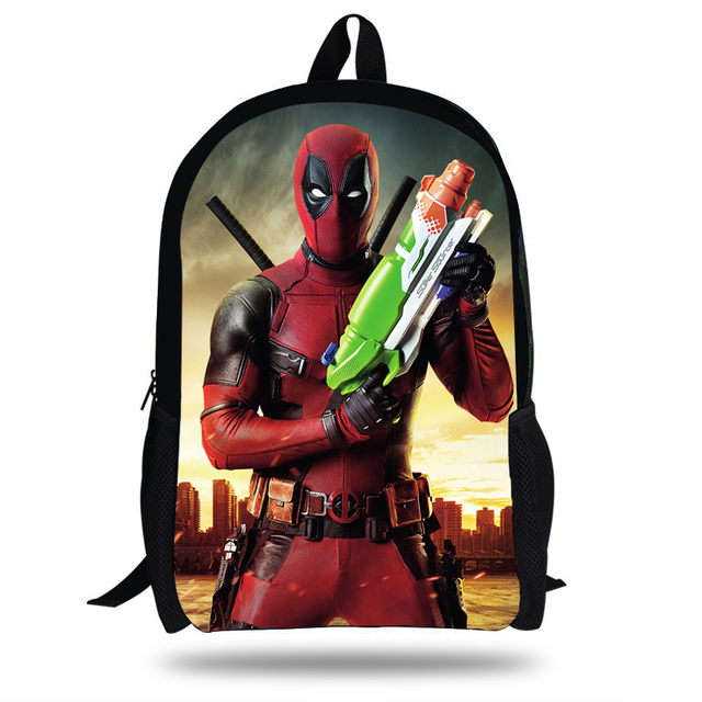 16inch S Book Bag Cool The Avengers Backpack Children Deadpool School For Boys Gift Agers
