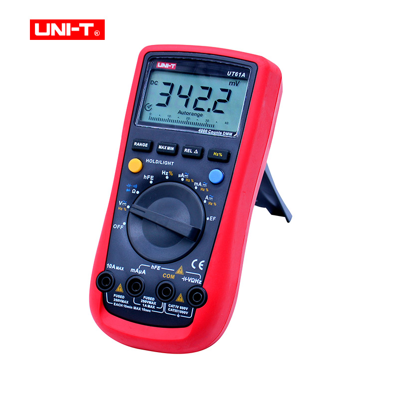 UNI-T UT61A Digital Multimeters Transistor NCN Tester Meter Volt Ohm Frq CD Backlight Data  Modern DMM Hold Ammeter Tester