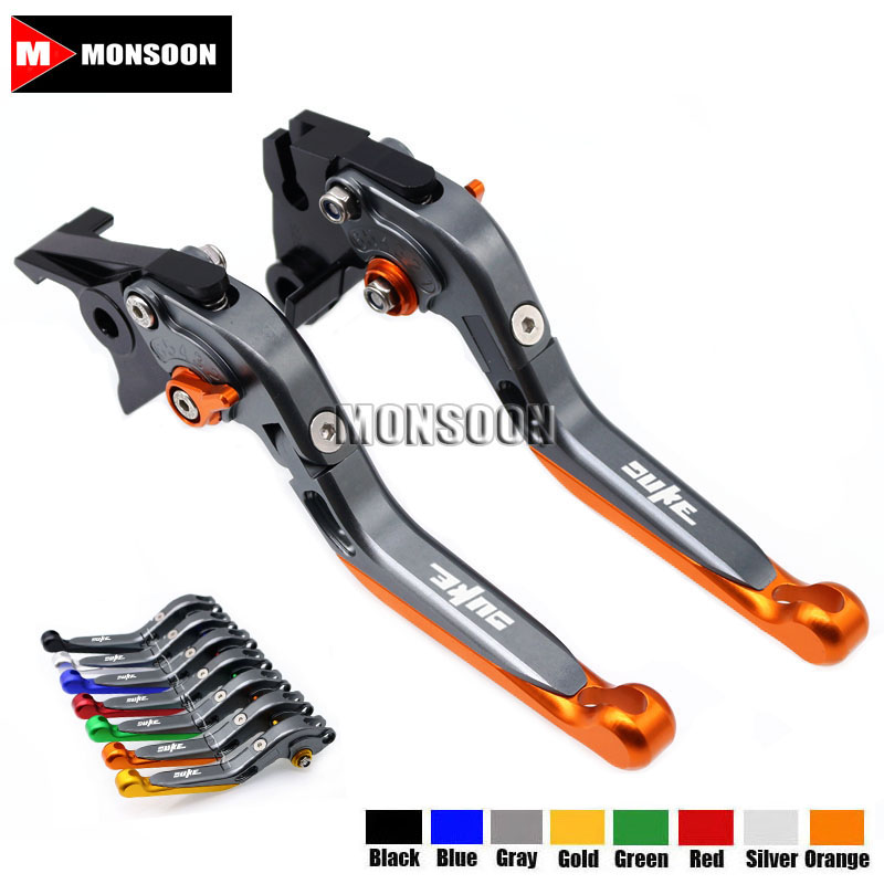 For KTM 690 Duke 08-11 990 Super Duke 1290 Super Duke R/GT 2014-2017 RC8/R Folding Extendable Brake Clutch Levers 8 Colors adjustable folding extendable brake clutch levers for bmw k1300 s r gt k1600 gt gtl k1200r sport r1200gs adventure 8 colors