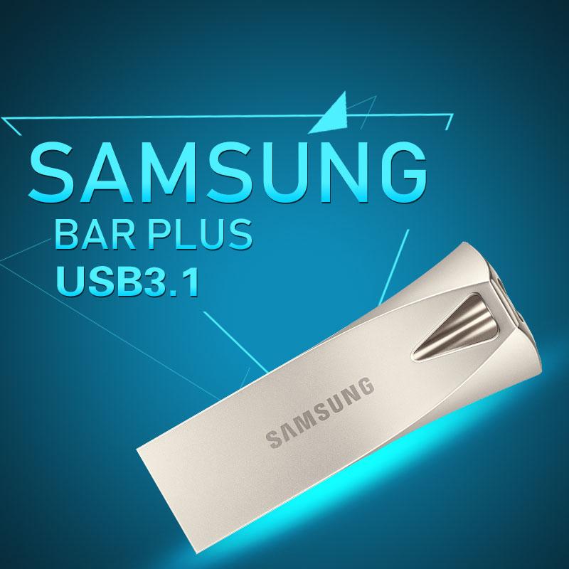 SAMSUNG gb gb 64 32 16 gb de Disco USB Flash Drive 128 gb 256 gb USB 3.1 De Metal Mini Caneta unidade de Memória Pendrive Vara Dispositivo De Armazenamento EM Disco U