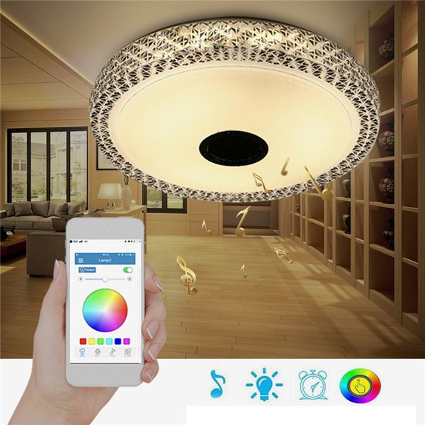 Smuxi Modern 48W RGB Smart Dimmable Bluetooth & Music ceiling lights APP Control Lamp for room/bedroom