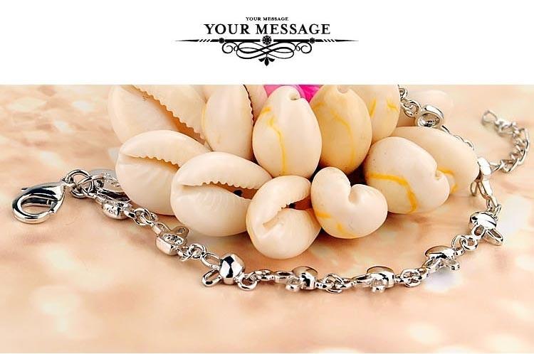 Women's 925 sterling silver charm bracelet ; fashion women rabbit bracelet; Send girl gift