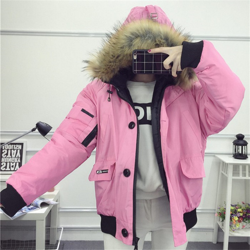 new 2016 winter fur collar down cotton in the long section of the female tooling