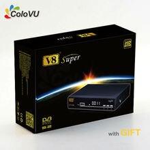 HD Satellite Récepteur FreeSat V8 Super + Cadeau soutien IPTV cccam newcamd Biss PowerVU Multi-CAS 3G GPRS WiFi
