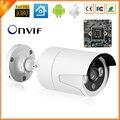Mais recente da câmera de segurança cctv 3 pcs matriz de led à prova d' água de vigilância ao ar livre câmera full hd 1080 p 2mp ip hi3516c + sony imx222