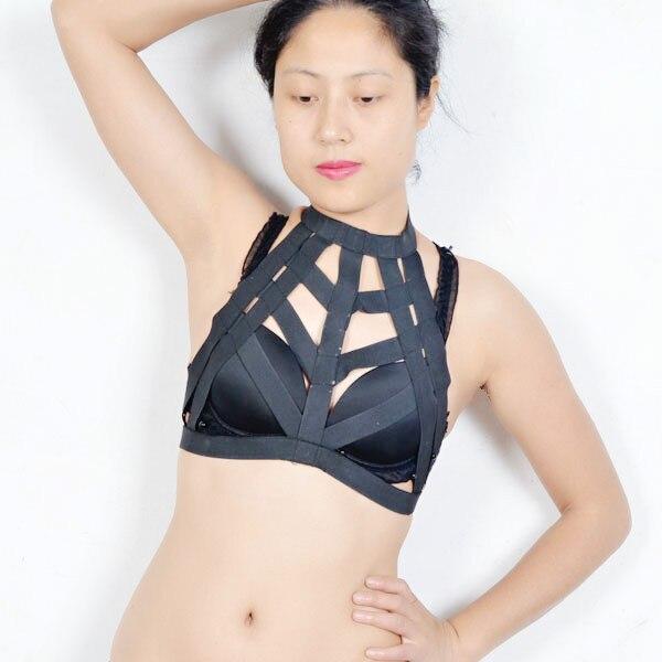 068ed3116d4 Rave wear festival adjustable body cage harness elastic lingerie straps bra  top IN STOCK! O0148-in Garters from Underwear   Sleepwears on  Aliexpress.com ...