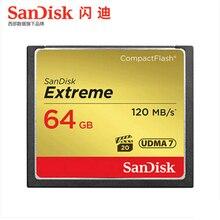 Cartão de memória compacto extremo 32 gb 64g 128g da câmera flash de sandisk cf até 120 mb velocidade de leitura para 4 k e vídeo hd completo
