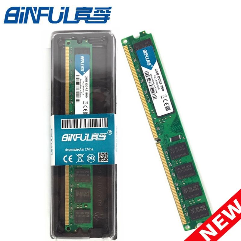 BiNFUL PC Speicher RAM Memoria Modul Computer Desktop DDR2 2 gb 2g PC2 5300 6400 667 800 mhz RAMCompatible mit AMD Intel Plattform