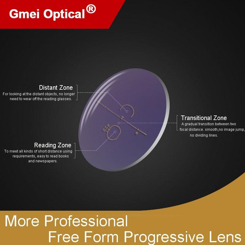 1.61 Super-Resistente Digital Forma Livre Progressiva Não-Line Multi-Focal da Personalizada Com AR revestimento 2 Pcs