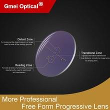 1.61 Super Tough Digital Free Form Progressive No Line Multi Focal Prescription Customized Optical Lenses With AR Coating  2 Pcs