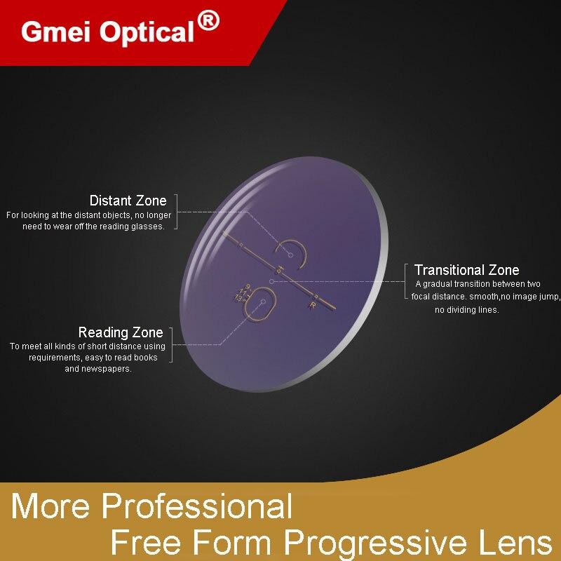 1.61 Super-Tough Digital Sin Forma Progresiva Sin Línea Multi-Focal Óptica Personalizada Con AR recubrimiento 2 Unids