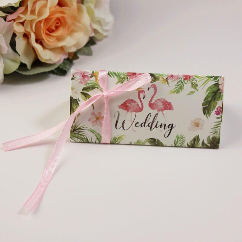 Emerra 50 Pcs Sen European Pink Candy Box Wedding Candy Box Creative Wedding Candy Bag in Gift Bags Wrapping Supplies from Home Garden