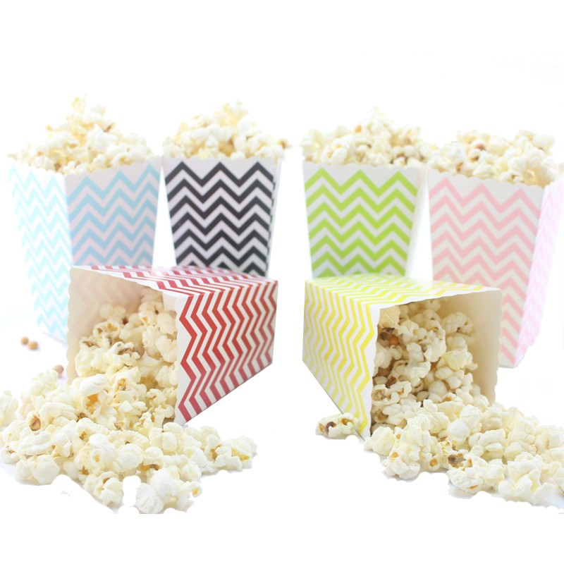 chevron popcorn box